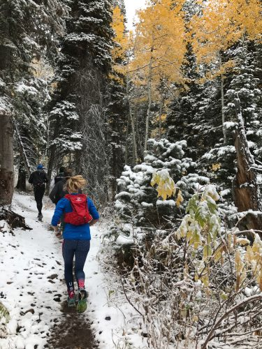 Running up Park City mountain with a small group! (photo by Erika Flowers)