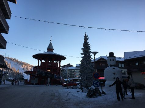 The little village in Ruka! They make these awesome giant snowmen each year.