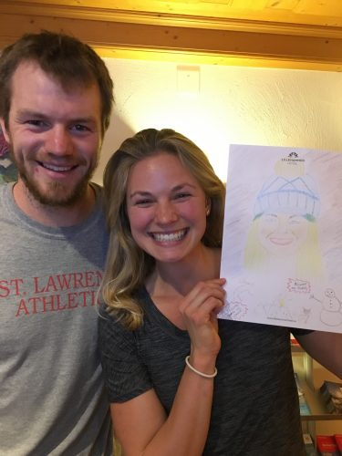 Andrew drew me and donated to the Minnesota Youth Ski League as well as Right to Play!