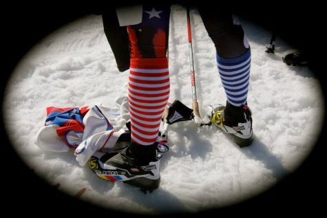 The. Socks. At the Olympics. (photo from Holly Brooks)