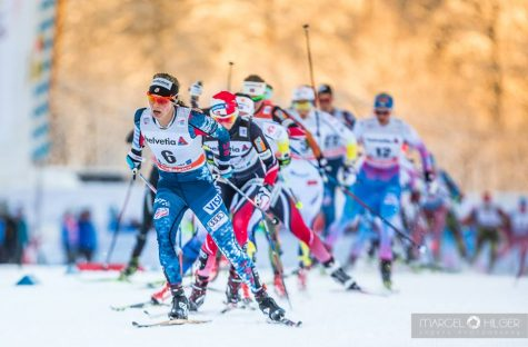 Leading the 10km skiathlon in Oberstdorf (photo by Marcel Hilger)