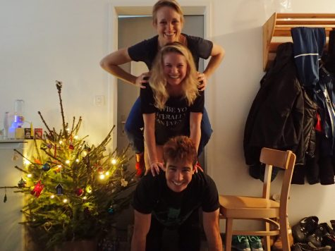 The three musketeers and their Happy-Hanukkah-Christmas tree! (photo from Noah)