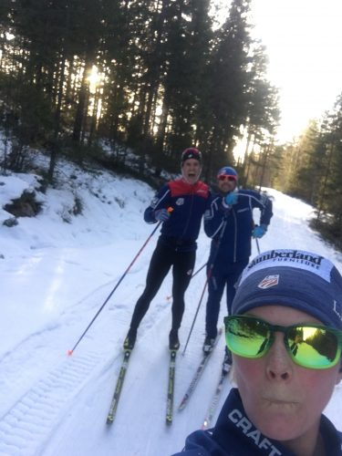 Loving the chance to ski the old World Champs courses in Falun with Simi and Cork!