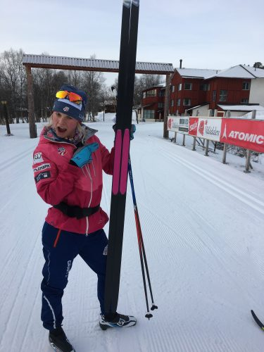 I was very, very impressed by my Salomon S/Race skins! (photo from Kikkan)