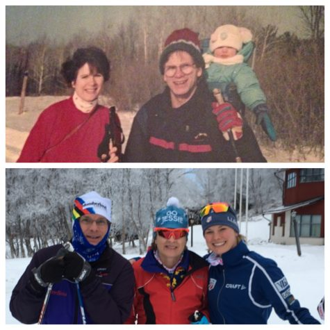 Oh, how times have changed. Mom, Dad and me 23 years ago, and now.